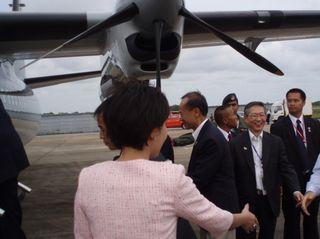 Minister boarding Fokker
