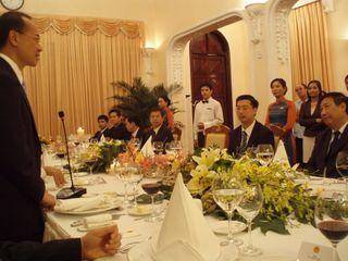 Minister making informal remarks at dinner