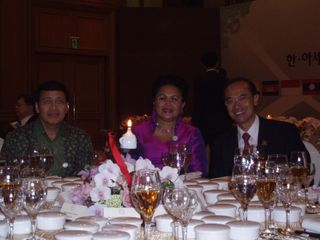 Minister with Pak and Mrs Hassan