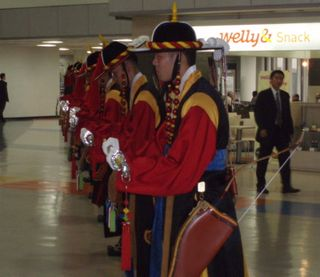 Honour Guard at the Airport for PM's arrival in Seoul