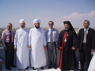 Group photo on the rooftop of Sheikh Ahmad's residence