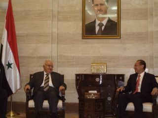 Minister calling on PM Mohammad Najai Al-Otari