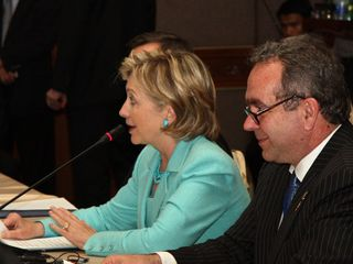 US Secretary of State Hillary Clinton at the ASEAN-US PMC