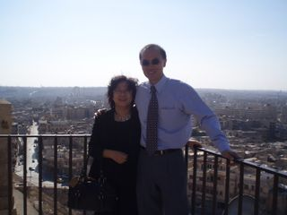 Minister with Mrs Yeo at the top of the Citadel