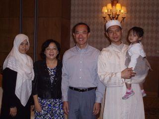 Photo with Singaporean family