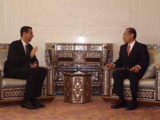 Minister calling on President Bashar Al-Assad