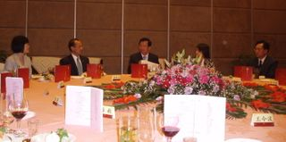 Lunch hosted by Party Secretary Qiang